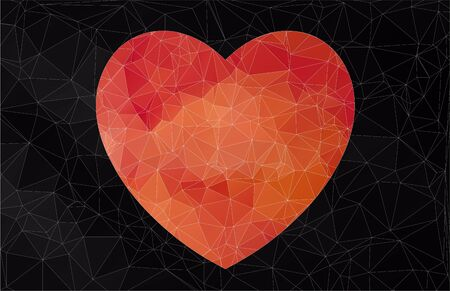 designe: Abstract heart-shaped banner for your designe. Vector for web