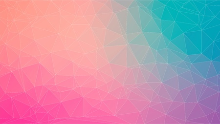 baner: Tial and Pink abstract polygonal baner, vector for you design