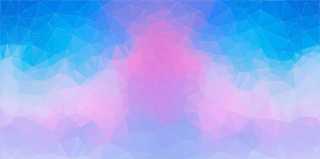 baner: Blue and Pink abstract polygonal baner, vector for you design