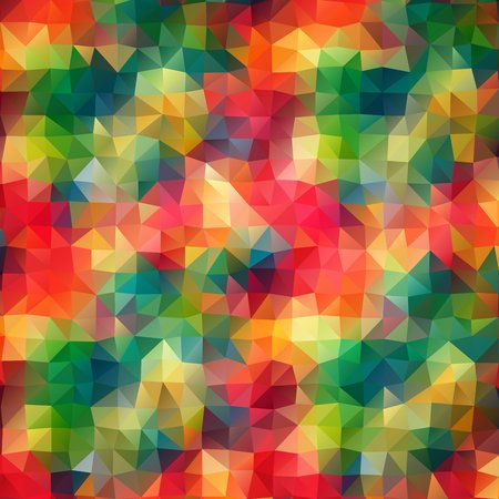 multi color: Multi color Abstract color mosaic background with triangles shapes.