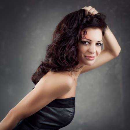 wild hair: Black Long Curly Wild Hair. Fashion Woman Portrait. Long wavy Hair