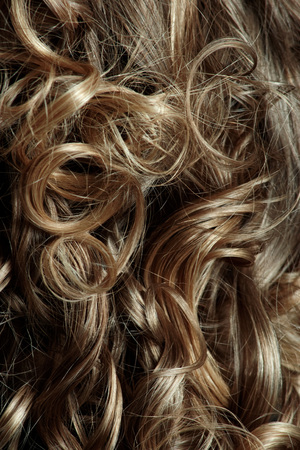 blonde streaks: Beautiful and long curly hairs for your design