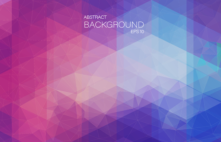 Violet 2D mosaic background with triangle shapes for web