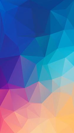 Vertical Flat polygonal Background for your smartphone. Illustration