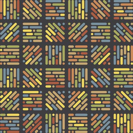 Original retro yet modern patterns. Stock Illustratie