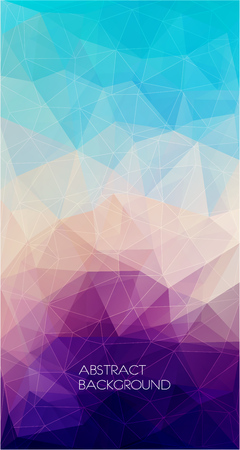 Abstract colorful polygons design background.