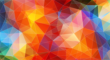 Multicolor color geometric triangle wallpaper