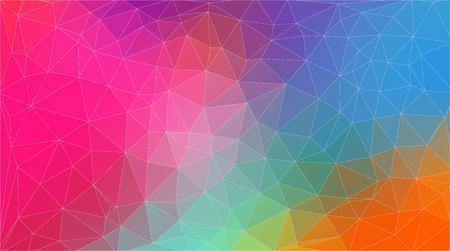 Fondo de pantalla de triángulo geométrico de color plano horizontal Vintage Ilustración de vector