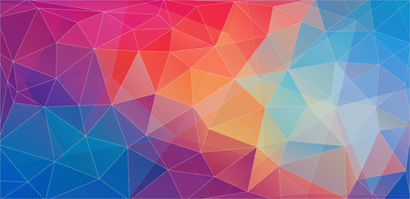 Flat triangle color geometric wallpaper for your proect Vetores