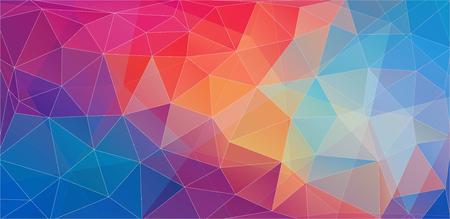 Papel pintado geométrico de color triangular plano para su proyecto Ilustración de vector