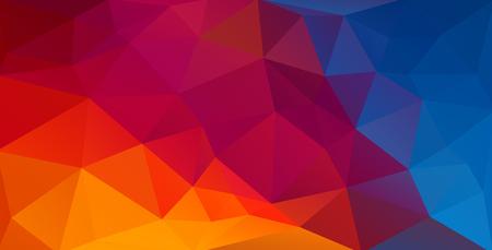 Fond plat coloré avec des formes triangulaires dégradées