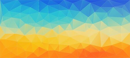 Flat background with triangles for web design and mobile app,  イラスト・ベクター素材