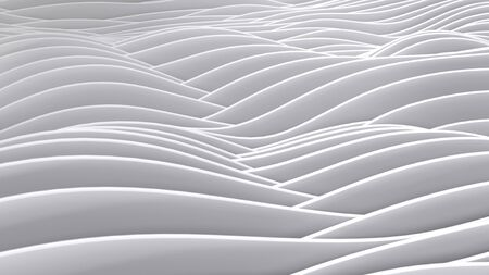 Modern white wave background for concept design. Stock Photo