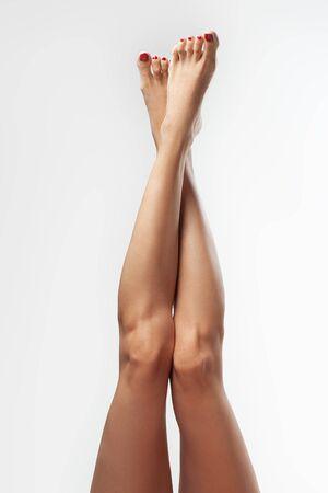 Female legs. Spa beauty concept.Foot care. Stockfoto