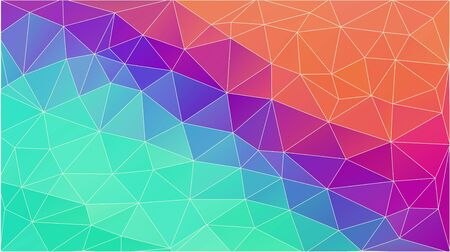 Abstract triangles background of colourful gradient Illustration