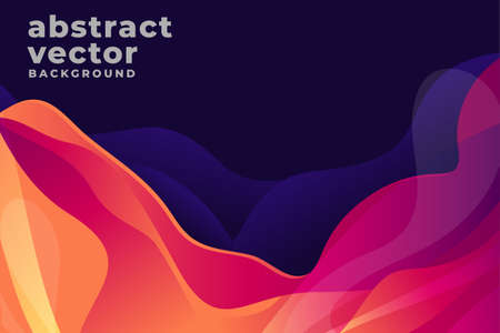 Multicolored waves. Abstract background vector Vector Illustration