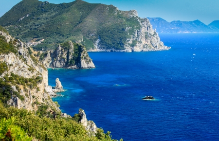 corfu: Beautiful greek island Corfu - Paleokastritsa Greece