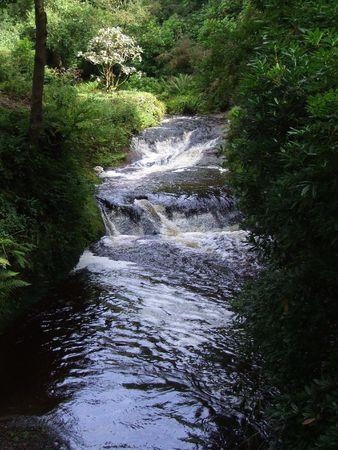 Waterfall in scotland photo