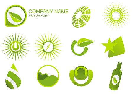 green logo mix Ilustração