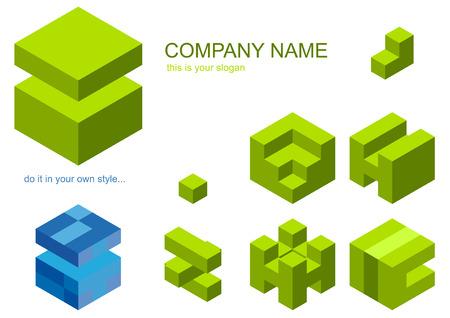 logo cubes Vector