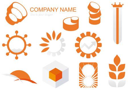 orange logo set