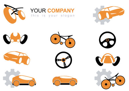 vehicle logo set Illustration