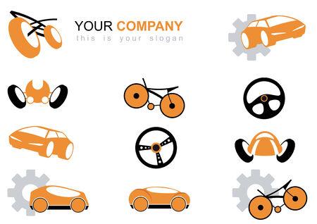speed ride: vehicle logo set Illustration