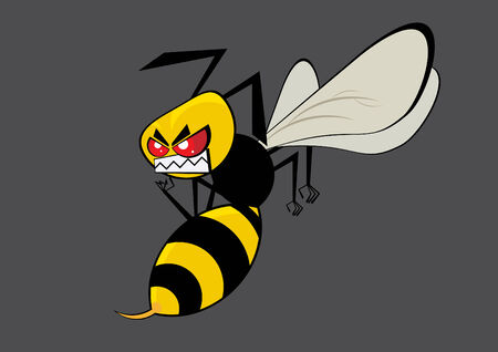 angry hornet Vector