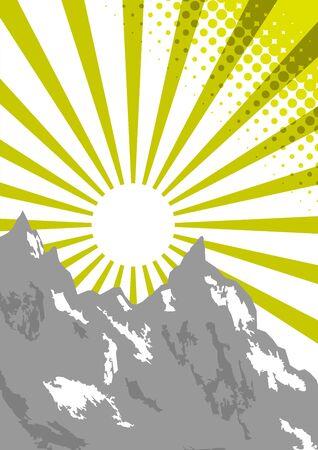 neve montagne: Mountain retr� sfondo