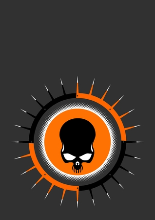 logo rock: brochet cr�ne Illustration