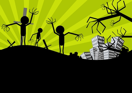 scarecrow: halloween fondo espantap�jaros Vectores