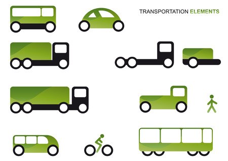 transportation logo set Vector