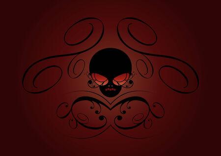 spooky skull Vector