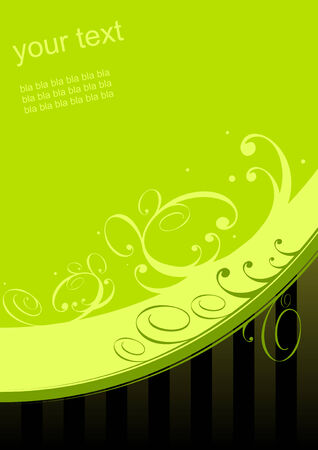 textfield: floral background green Illustration