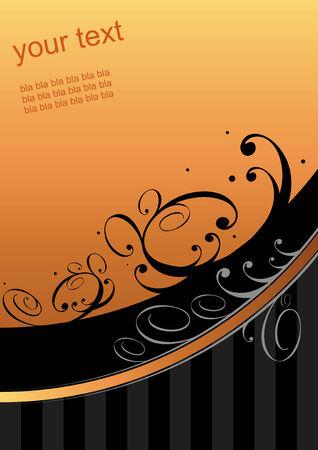 textfield: floral background dark orange