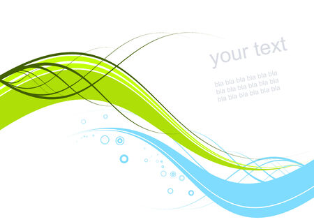 meets: green meets blue background Illustration