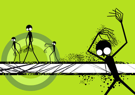 spooky alien background Векторная Иллюстрация