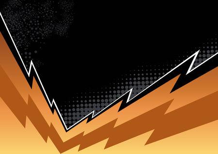thunderbolt background Vector