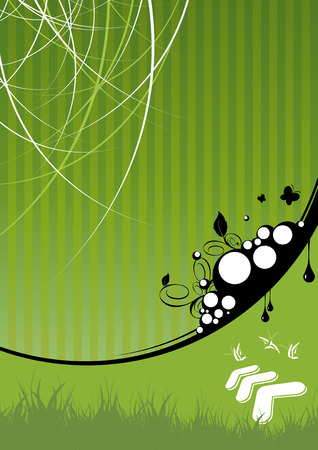 green background ecology Vector