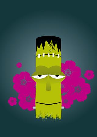 happy tiki zombie Vector