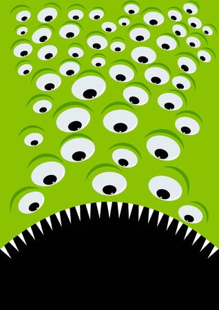 gape: monster eye background