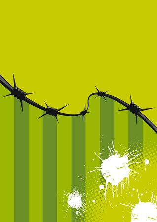 green wire grunge Stock Vector - 3607714