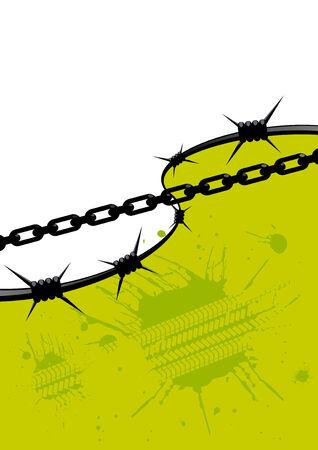 textfield: grunge chain background Illustration