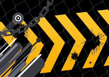 stylish yellow arrow background Vector