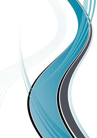 blue dynamic wave Vector