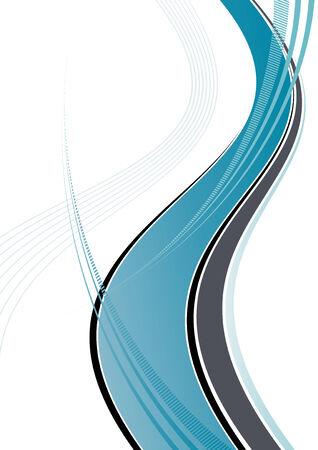 fluids: blue dynamic wave