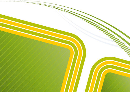 green yellow retro background Stock Vector - 3723617