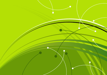 green swoosh background Vector
