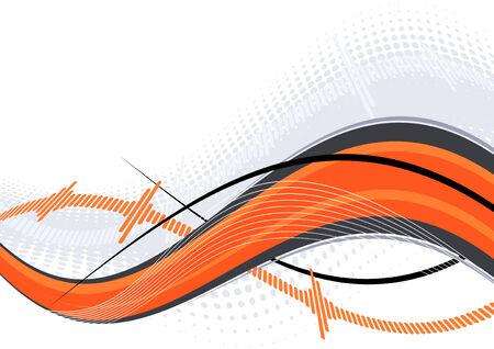 orange swirl: abstract orange swirl
