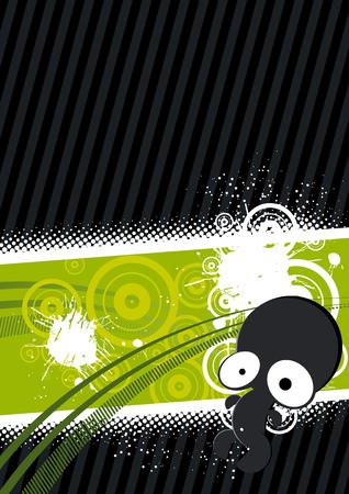 alien background element Illustration